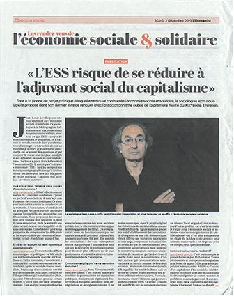 L'ESS risque de se réduire à l'adjuvant social du capitalisme